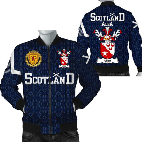 Allen Family Crest Scottish Home Bomber Jacket - 1991 Style A7