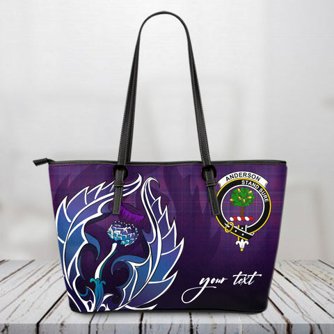 (Custom) Anderson Scotland Leather Tote Bag / Leather Tote Bag Scottish Clan A10