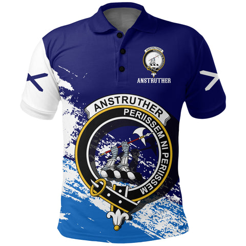 Anstruther Scotland Polo Shirt - Scottish Crest | Women & Men | Clothing | Apparel