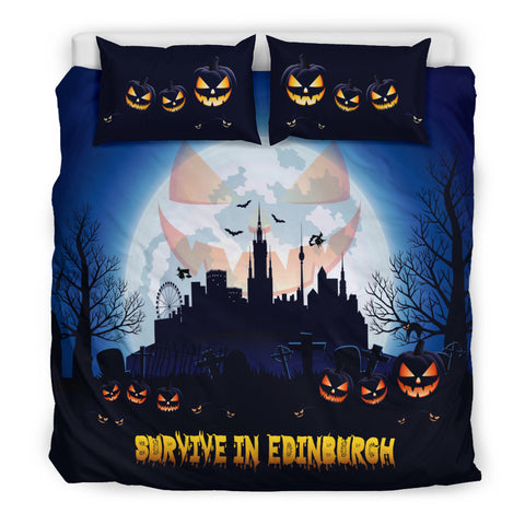 Image of Scotland Bedding Sets - Survive In Edinburgh | Special Custom Design