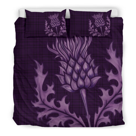 Scotland Bedding Set - Purple Thistle Emblem