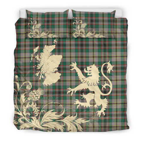 Tartan Bedding Set, Craig Ancient Scotland Lion Thistle Map Scottish Printed Bedding Set A9