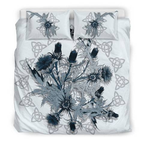 Scotland Blue Thistle Flower Bedding Set | Bedroom Decor | Love Scotland