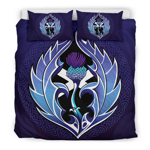 Purple Thistle and Celtic Bedding Set | Bedroom Decor | Love Scotland