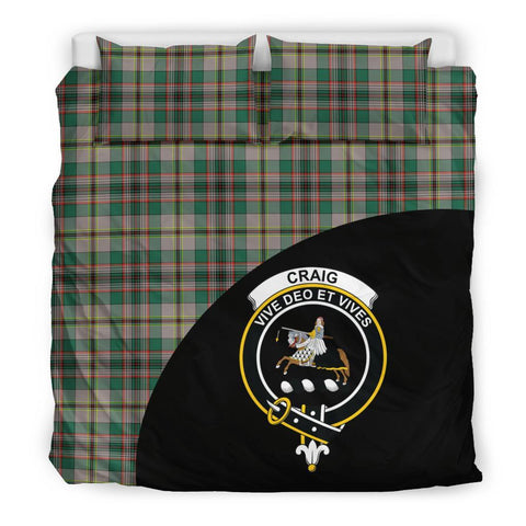 Craig Ancient Tartan Clan Badge Bedding Set Wave Style