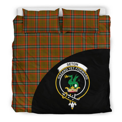 Seton Hunting Modern Tartan Clan Badge Bedding Set Wave Style