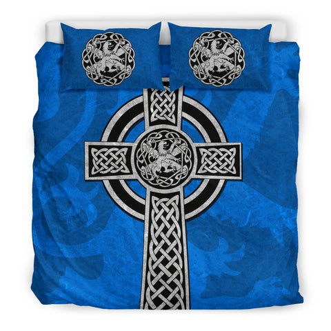 Image of Celtic Cross Lion - Scottish Blue Bedding Set | Love Scotland