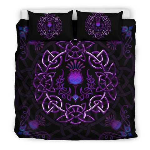 Scotland Bedding Set - Purple Thistle Celtic | Love Scotland