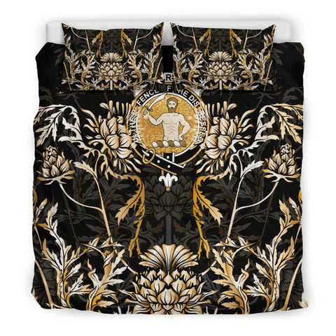 Allardice Bedding Set - Gold Scottish Thistle | Over 300 Clans | Home Set