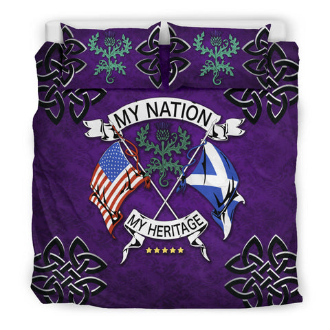 Scotland Bedding Set - My Nation My Heritage Thistle A24