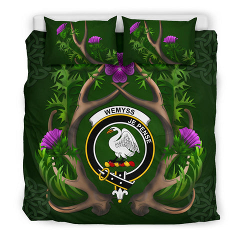 Wemyss Crest Scottish Thistle Celtic Scotland Bedding Set | Love The World