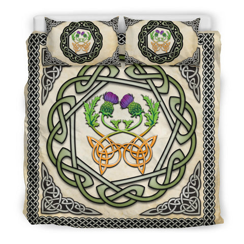Scotland Bedding Set - Celtic Thistle Vintage A24