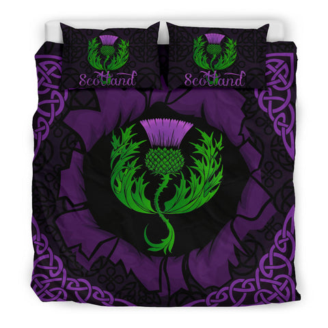 Scotland Bedding Set - Celtic Thistle Purple A24