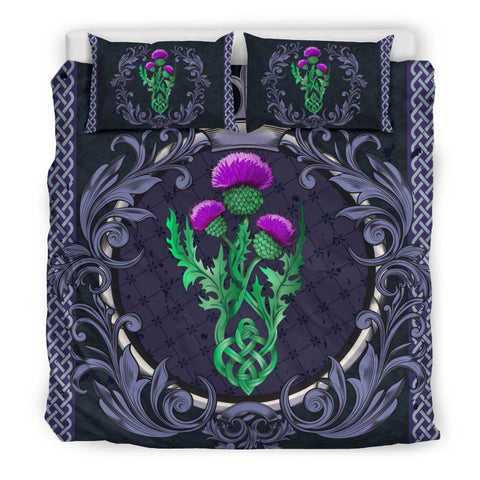 Image of Scotland Bedding Set - Thistle Celtic Royal Purple A24