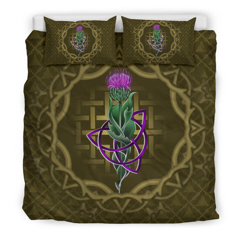 Scotland Bedding Set - Thistle Celtic Knot Circle Frame A24