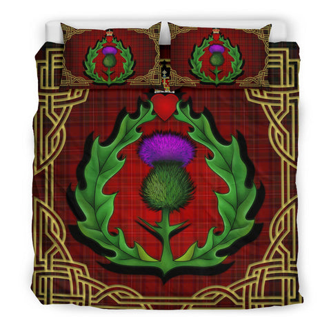 Image of Scotland Bedding Set - Thistle Stewart Royal Modern Claddagh ring A24