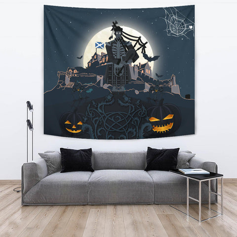 Image of Scottish Piper Halloween Tapestry | Special Custom Design