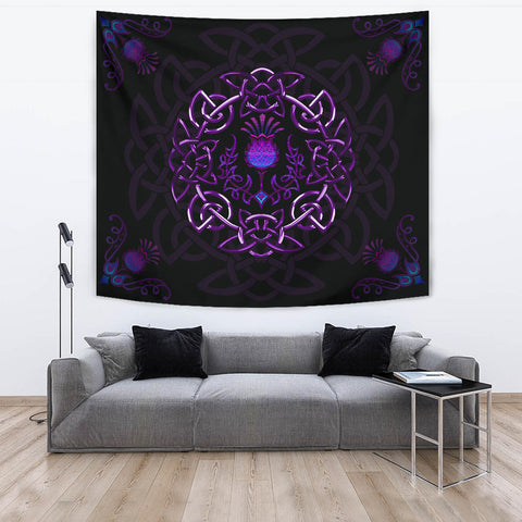 Scotland Tapestry - Purple Thistle Celtic | Love Scotland