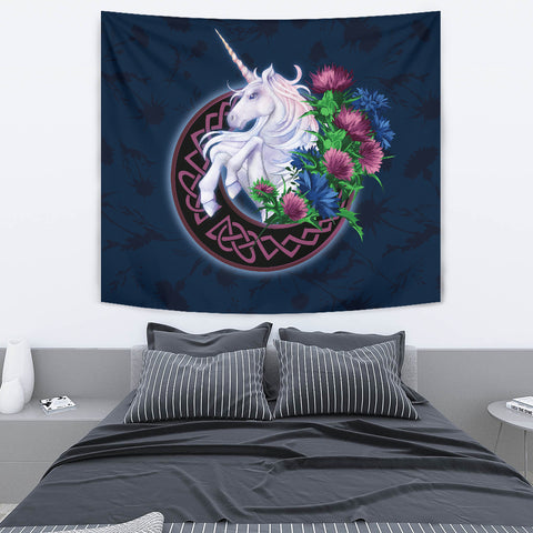 Scotland Tapestry Unique - Unicorn Thistle And Moon Celtic A18