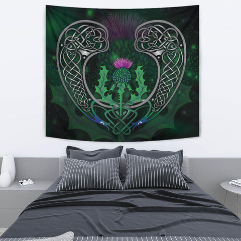 Image of Scotland Tapestry - Celtic Thistle Green | Love Scotland