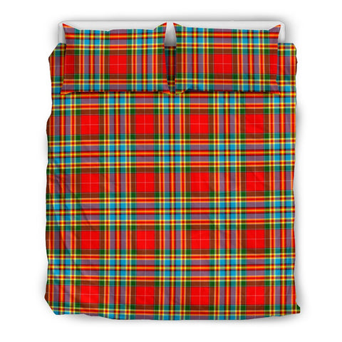 Image of Chattan tartan bedding, Chattan tartan duvet covers, Chattan plaid king bed, bedding sets queen, twin bedding sets