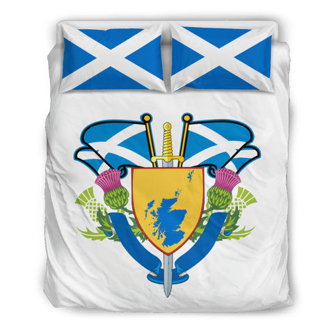 Map Flag - White Edition Bedding Set | Scotland Home Set | Hot Sale