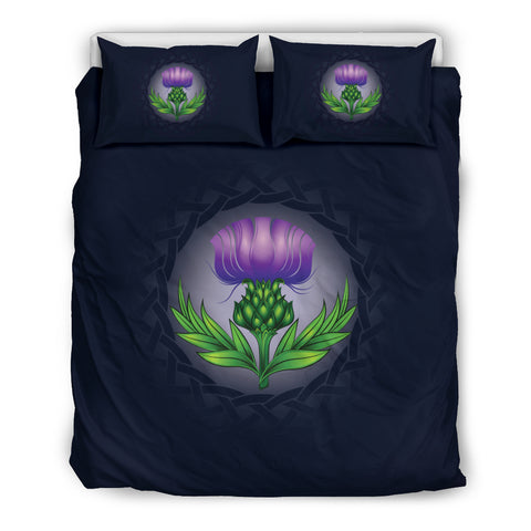 Image of Glowing Thistle Emblem Bedding Set | Love Scotland