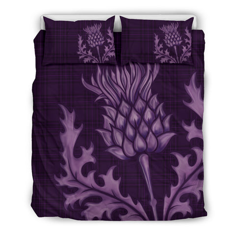 Image of Scotland Bedding Set - Purple Thistle Emblem