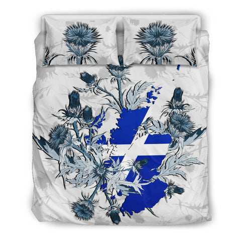 Scotland Thistle Map Bedding Set | Bedroom Decor | Love Scotland