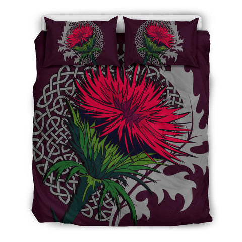 Pink Thistle and Celtic - Scotland Bedding Set | Bedroom Decor | Love Scotland