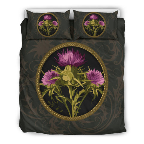 Gold Vintage Thistle - Scotland Bedding Set | Love Scotland