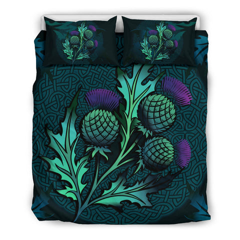 Beautiful Thistle and Celtic | Bedroom Decor | Love Scotland