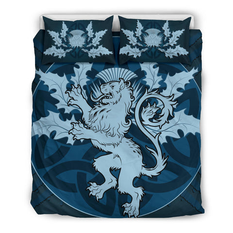 Blue Lion and Thistle - Scotland Bedding Set | Bedroom Decor | Love Scotland