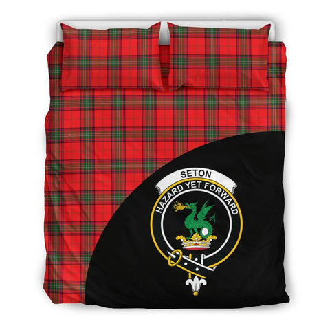 Seton Modern Tartan Clan Badge Bedding Set Wave Style