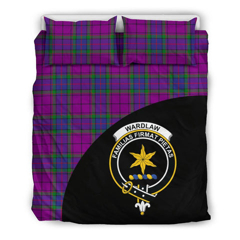 Wardlaw Modern Tartan Clan Badge Bedding Set Wave Style