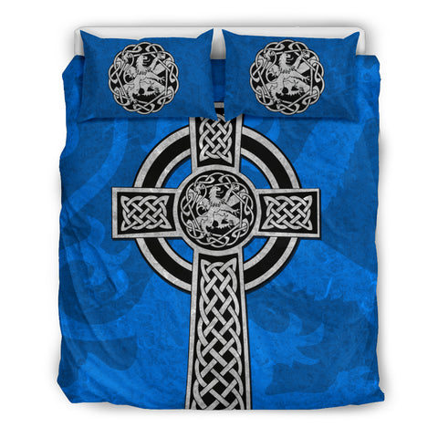 Celtic Cross Lion - Scottish Blue Bedding Set | Love Scotland
