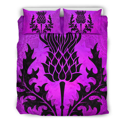 Scottish Thistle Purple Bedding Set | Bedroom Decor | Love Scotland