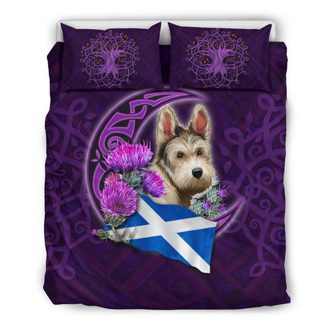 Scotland Bedding Set Celtic Tree Of Life - Scottish Terrier And Thistle Moon Celtic
