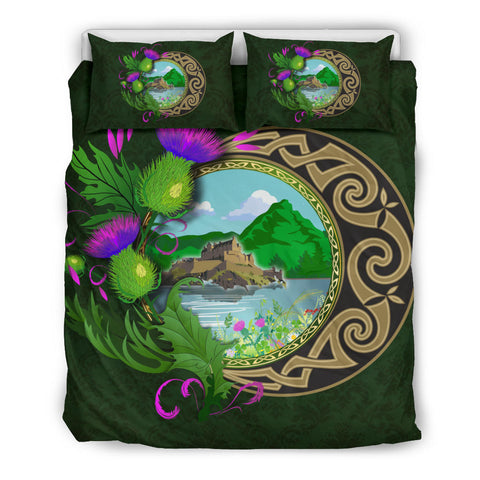 Scotland Bedding Set - Edinburgh Thistle Green | Love Scotland