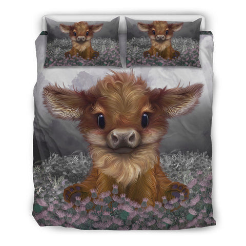 Scotland Bedding Set - Highland Cow Calf Thistle | Love Scotland