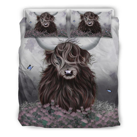 Scotland Bedding Set - Highland Cow Thistle | Love Scotland