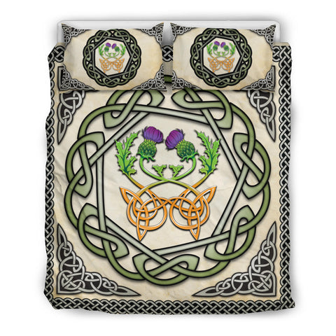 Image of Scotland Bedding Set - Celtic Thistle Vintage | Love Scotland