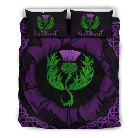 Scotland Bedding Set - Celtic Thistle Purple | Love Scotland