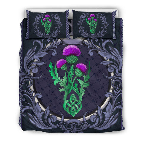 Image of Scotland Bedding Set - Thistle Celtic  Royal Purple | Love Scotland