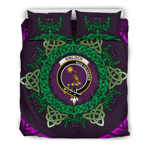 Kinloch Crest Scottish Thistle Celtic Purple Scotland Bedding Set | Love Scotland