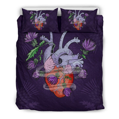 Image of Scotland Bedding Set - Scottish Heart Thistle | Love Scotland