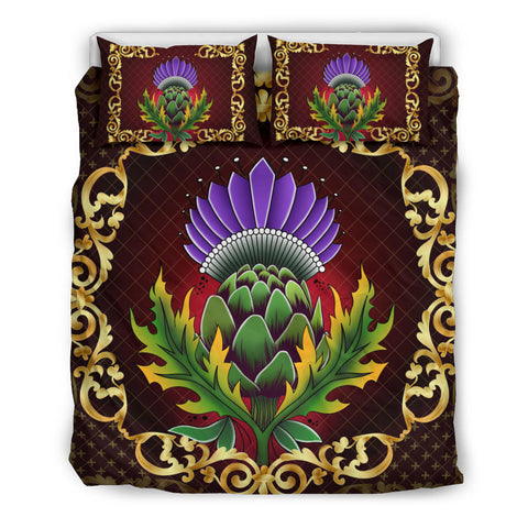 Image of Scotland Bedding Set - Thistle Special Gold | Love Scotland