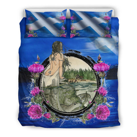 Image of Scotland Bedding Set, Scotland Selkie Thistle A14