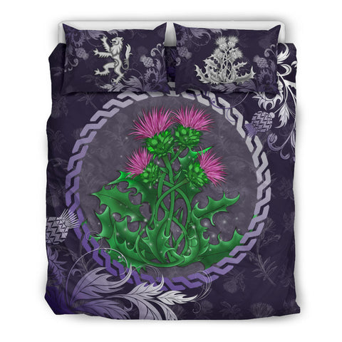 Image of Scotland Bedding Set - Celtic and Thistle Purple | Love The World