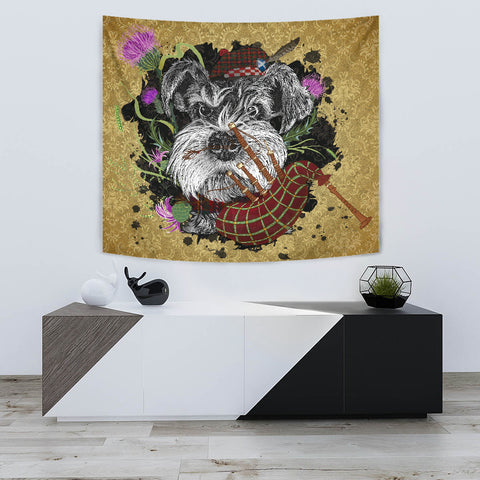 Scotland Tapestry - Scottish Terrier And Thistle Vintage | Love The World
